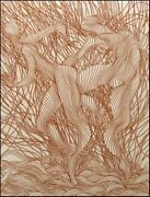 Guillaume Azoulay Purpurea Sn Etching On Paper Figures Hand Signed L@@k