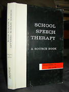 School Speech Therapy A Source Book, Emotionally Disturbed Language Handicapped