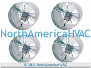 4x 10 Round In-line Air Duct Booster Fan 115 Volt T9-mcm10 T9-db10 Db10 650 Cfm