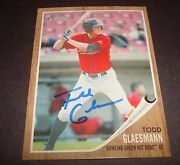 Todd Glaesmann Hot Rods Rays 2011 Topps Heritage 120 Signed Authentic Auto Db