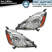 Headlights Headlamps Left And Right Pair Set New For 09-11 Honda Fit Sport