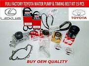New Toyota Lexus Factory Oem Full Timing And Water Pump Kit 3.0 1mzfe Not Chinese