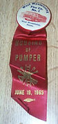 Vintage Pinback And Ribbon West Wyomissing Pa Fire Compay No 1 1965
