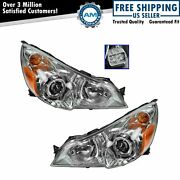 Headlight Headlamp Lh And Rh Pair Set Of 2 For 10-12 Subaru Legacy Outback