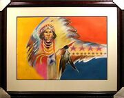 Bruce King Seeker Of Peace Acrylic Painting Listed Artist Submit Offer
