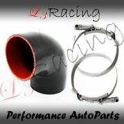 Black Elbow 3 76mm 4-ply Silicone Coupler Hose Turbo Intake Intercooler Chev2