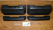 Arm Rests Kit Black Pads Bases Bolts Screws In Stock 11.5 Arm Rest Pad