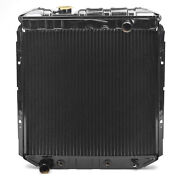 Acp Radiator 65 66 Ford Mustang, 6 Cylinder, Lh Outlet - Copper 3 Row Large Tube