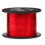 22 Awg Gauge Enameled Copper Magnet Wire 5.0 Lbs 2535' Length 0.0263 155c Red