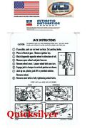 1965 Belvedere Satellite Coronet All Model Jacking Instructions Trunk Lid Decal