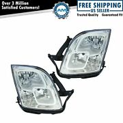 Headlights Headlamps Left And Right Pair Set New For 06-09 Ford Fusion