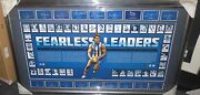 North Melbourne Captains Signed L/ed Fearless Leaders Print Framed + C.o.a