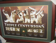 Triple Centurions Unsigned Poster Framed And Ready To Hang - Brand New