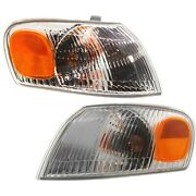 1998-2000 Replacement Corner Signal Light For Toyota Corolla Pair W/bulb/socket