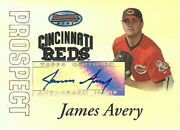 Hcw2007 Bowman's Best Prospects James Avery Auto Topps Reds Autograph 01301