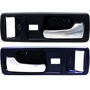 Door Handle Set For 1990-93 Honda Accord With Power Lock Blue Housing Front 2pc