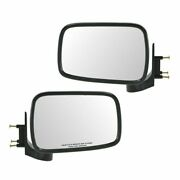 Chrome Manual Side Mirrors Left And Right Pair Set For 86-93 Mazda Pickup Truck