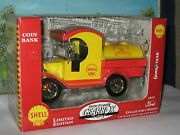Gearbox Collectables 1912 Ford Tanker Shell Motor Oil Co. Coin Bank