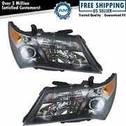 Hid Xenon Headlights Headlamps Left And Right Pair Set New For 07-09 Acura Mdx