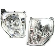 Headlight Set For 2008-2012 Jeep Liberty Left And Right With Fog Light 2pc