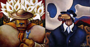 Markus Pierson Art History Coyote Portraits Of O'keefe And Rivera 2 On Canvas