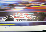 Mario Andretti Autographed Keith Murray Lithograph The Dream Team Indy 500