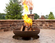 42 Fire Pit Natural Steel Finish 3/16 Steel Usa Made Lifetime Warranty