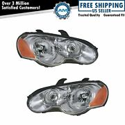 Headlights Headlamps Left And Right Pair Set For 03-05 Chrysler Sebring Coupe