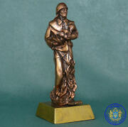 Soviet Russian Award For Rescue In Case Of Fireman Bronze Statue Figurine Bust