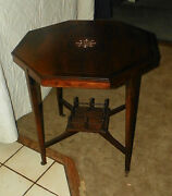 Rosewood Inlaid Parlor Table / Center Table / Lamp Table T203