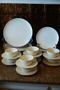 Vintage Lenox Olympia Pl China With Platinum Trimservice For 8 32 Pieces