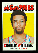1971 72 Topps Basketball 158 Charlie Williams Nm Memphis Pros Grizzlies Aba Card