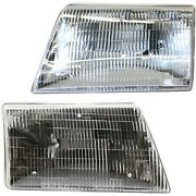 Headlight Set For 98 99 2000 Mazda B2500 Left And Right With Bulb 2pc