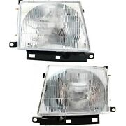 Headlight Set For 97-2000 Toyota Tacoma Left And Right With Bulb 2pc