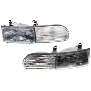 Headlight Set For 92 93 94 95 Ford Taurus Left And Right With Bulb 2pc