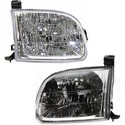 Headlight Set Left And Right For 2000-2004 Toyota Tundra Regular Cab Access Cab