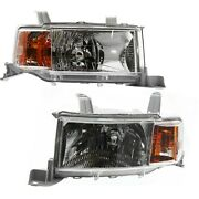 Headlights Headlamps Left And Right Pair Set New For 04-06 Scion Xb