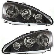Headlights Headlamps Left And Right Pair Set New For 05-06 Acura Rsx