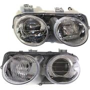 Headlights Headlamps Left And Right Pair Set New For 98-01 Acura Integra