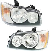 Headlights Headlamps Left And Right Pair Set New For 01-03 Toyota Highlander