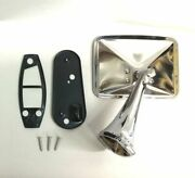 70 71 72 Chevy Truck Square Rectangle Chrome Outside Rearview Door Mirror Left