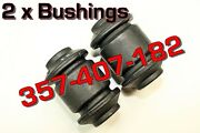 357-407-182 Audi And Vw 2 X Two Front Lower Control Arm Bushing Votex Brand