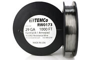 Temco Kanthal A1 Wire 29 Gauge 1000 Ft Resistance Awg A-1 Ga