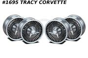 1966 Corvette Knock Off Aluminum Wheel Set W/spinners And Hardware 15x6 New