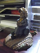 Tom Clark Old Woman Figurine On Tractor Flora 6 Tall