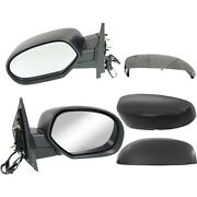 Side Mirrors Power Heated Folding Black Left And Right Pair Set For Chevy Gmc