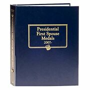 Whitman Classic Coin Album 2477 Presidential First Spouse Medal 2007-date Book
