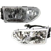 Headlight Set For 99-2000 Nissan Quest Driver And Passenger Side W/ Bulb