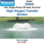 Kasco 2400af200 Aerator Andfrac12 Hp 120 Volts 200and039 Cord Includes Float
