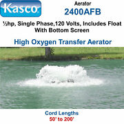 Kasco 2400afb150 Aerator Andfrac12 Hp 120 Volts 150and039 Cord Includes Float And Bottom Screen